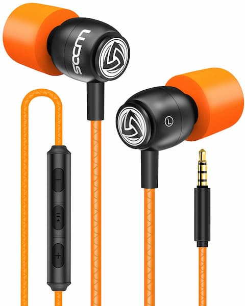 LUDOS Clamor Wired Earbuds in Ear Headphones with Microphone