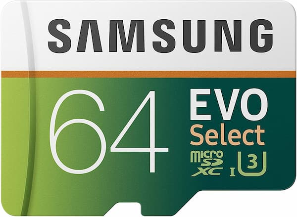 Samsung MicroSDXC EVO Select Memory Card with Full-Size Adapter
