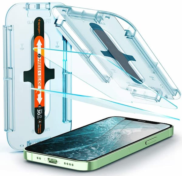 Spigen Tempered Glass Screen Protector Designed for iPhone 12 Mini (2021)