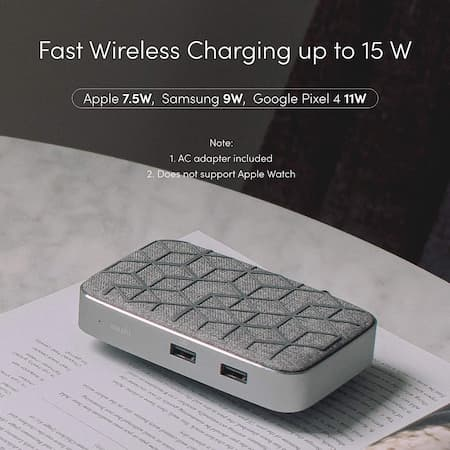 Moshi Symbus Q Docking Station with Wireless Charger for iPhone